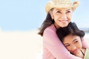 Grandmother and Child Hugging - Healthy eyes for life in West Jordan UT